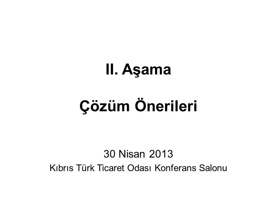 II. Aşama Çözüm Önerileri 30 Nisan 2013 Kıbrıs Türk Ticaret Odası Konferans Salonu