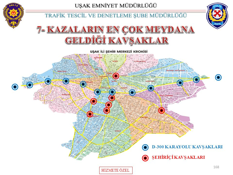 168 HİZMETE ÖZEL D-300 KARAYOLU KAVŞAKLARI ŞEHİRİÇİ KAVŞAKLARI