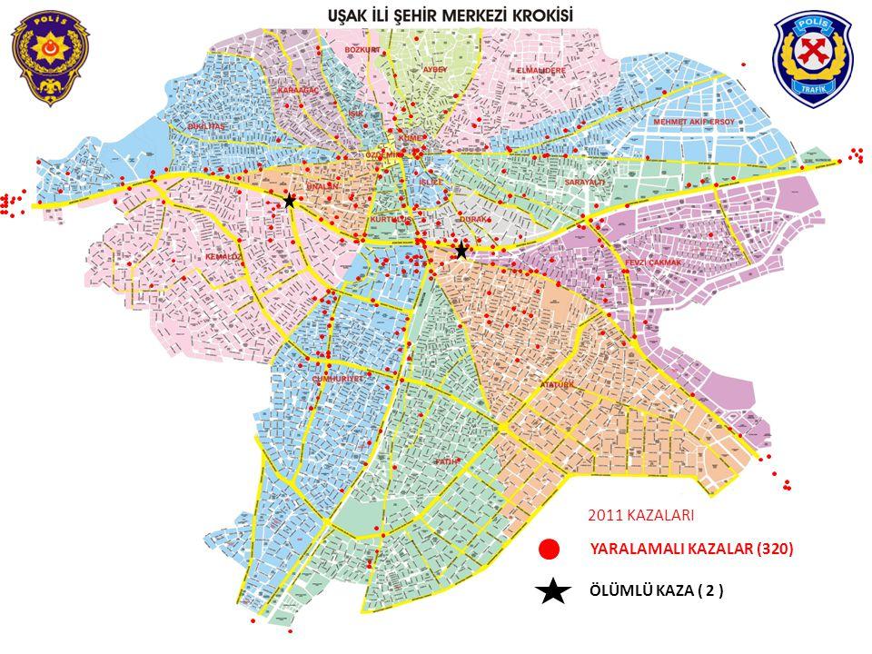 2011 KAZALARI YARALAMALI KAZALAR (320) ÖLÜMLÜ KAZA ( 2 )