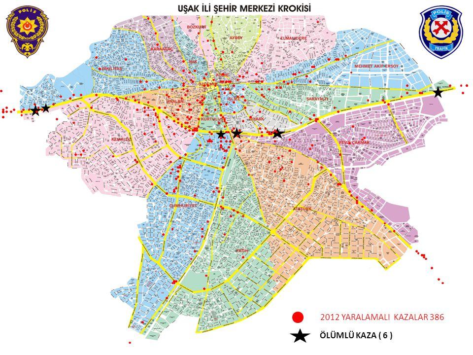 2012 YARALAMALI KAZALAR 386 ÖLÜMLÜ KAZA ( 6 )