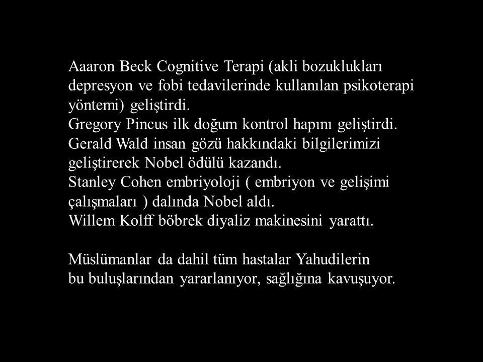 Aaaron Beck Cognitive Terapi (akli bozuklukları depresyon ve fobi tedavilerinde kullanılan psikoterapi yöntemi) geliştirdi. Gregory Pincus ilk doğum k