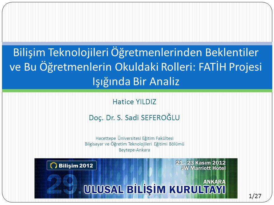 1/27 Hatice YILDIZ Doç.Dr. S.