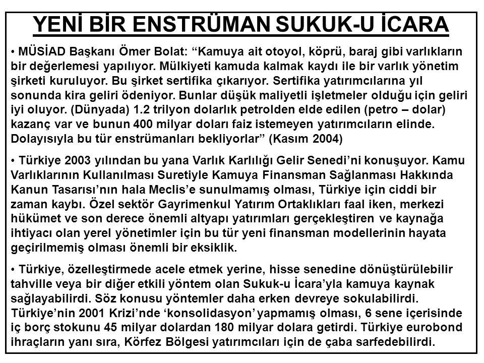 DİKKAT EDİLMESİ GEREKEN HUSUSLAR • Türkiye'de gerçek ve tüzel kişilerin 92 milyar dolarlık döviz tevdiat hesapları, döviz kurları aşağı yöndeki hareketini sürdürdükçe, sorun olmayı sürdürecek.