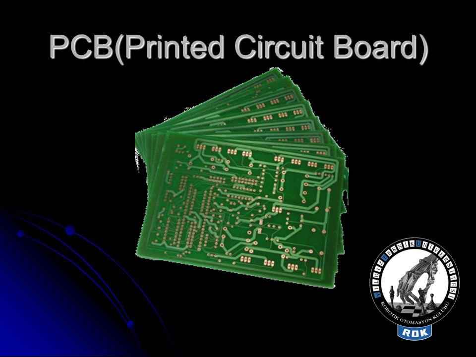  Bunlar arasından CEM-(1-5) FR-2 ve FR-4 en çok kullanılan PCB materyalleridir.