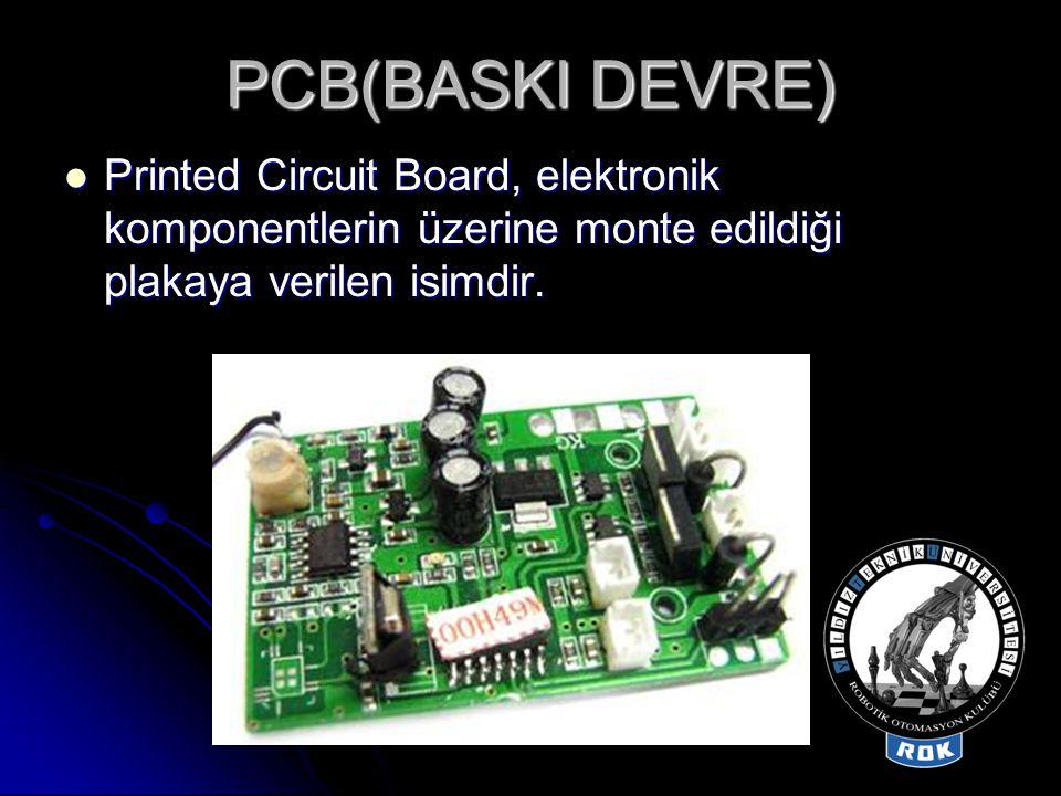  'Via, PCB üzerindeki, metalle doldurulmuş (veya kaplanmış) ve her iki taraftaki iletken desenine da temas eden bir deliktir.