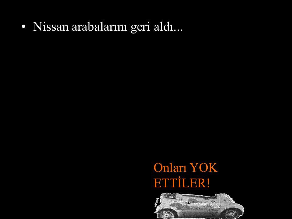 •Halk bu araçları satın almak istedi... Ama Nissan hayır dedi. • Ağustos 2006'da Pasedena halkıyla Nissan arasındaki kira sözleşmesi bitti.