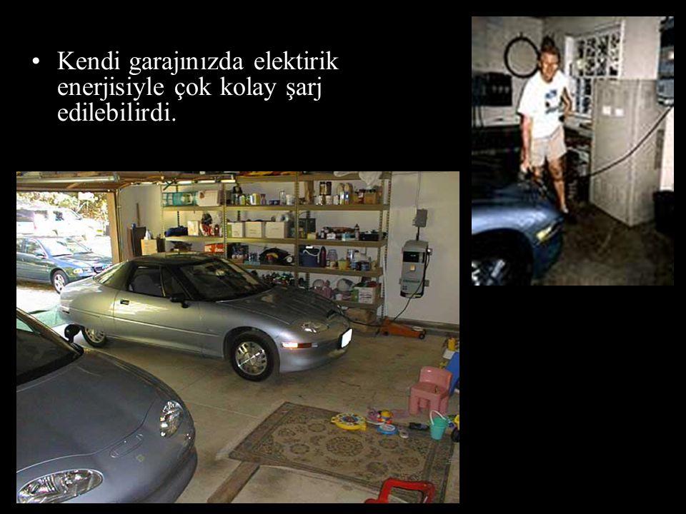 •Kendi garajınızda elektirik enerjisiyle çok kolay şarj edilebilirdi.