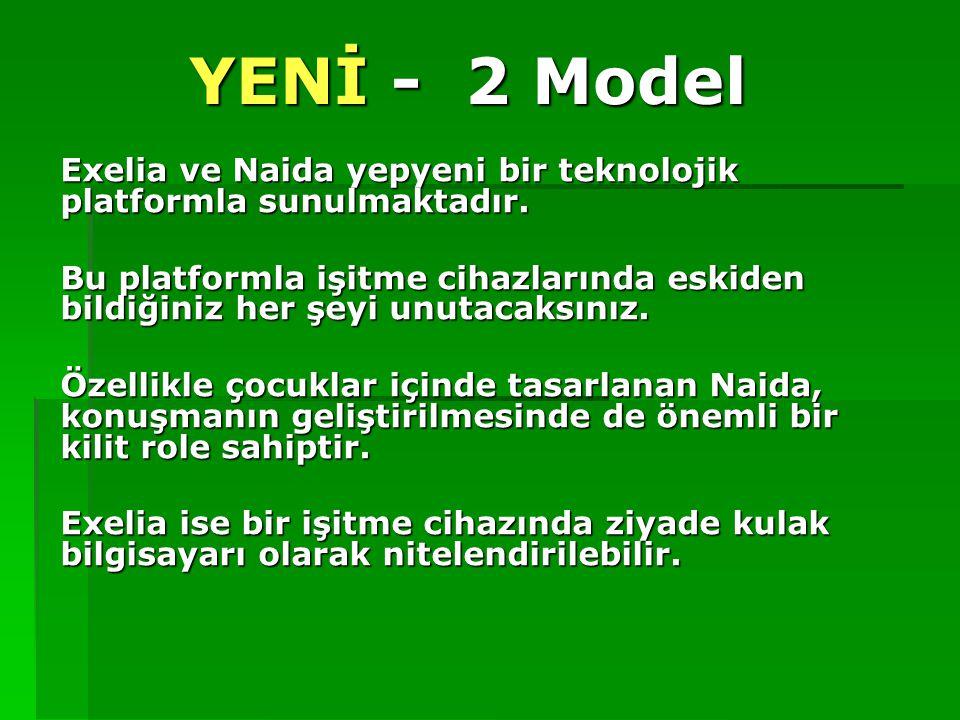 YENİ - 2 Model Exelia ve Naida yepyeni bir teknolojik platformla sunulmaktadır. Bu platformla işitme cihazlarında eskiden bildiğiniz her şeyi unutacak