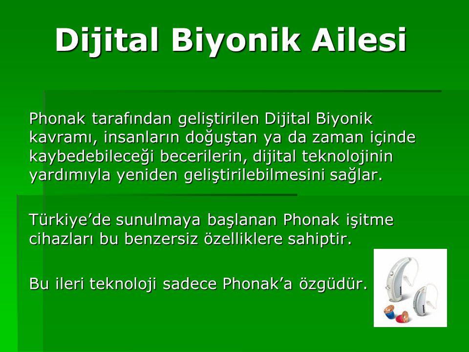 Dijital Biyonik Ailesi Phonak tarafından geliştirilen Dijital Biyonik kavramı, insanların doğuştan ya da zaman içinde kaybedebileceği becerilerin, dij