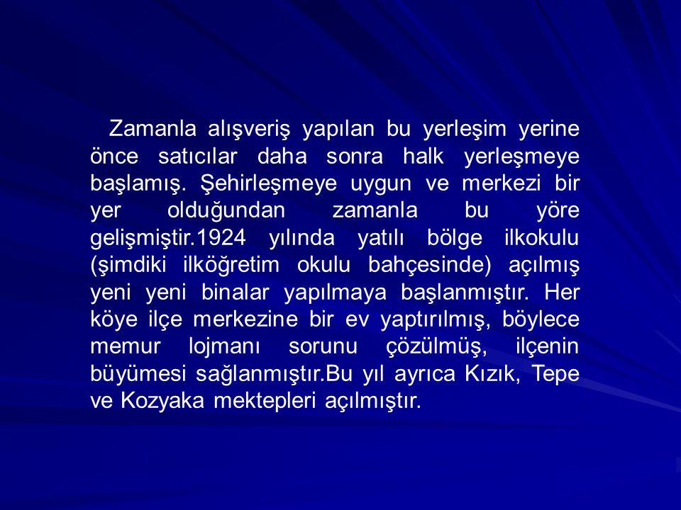 İLÇE OLUŞU: 1946 yılında 4869 sayılı kanun gereğince bu yerleşim merkezi ilçe oldu ve Seben adını aldı.