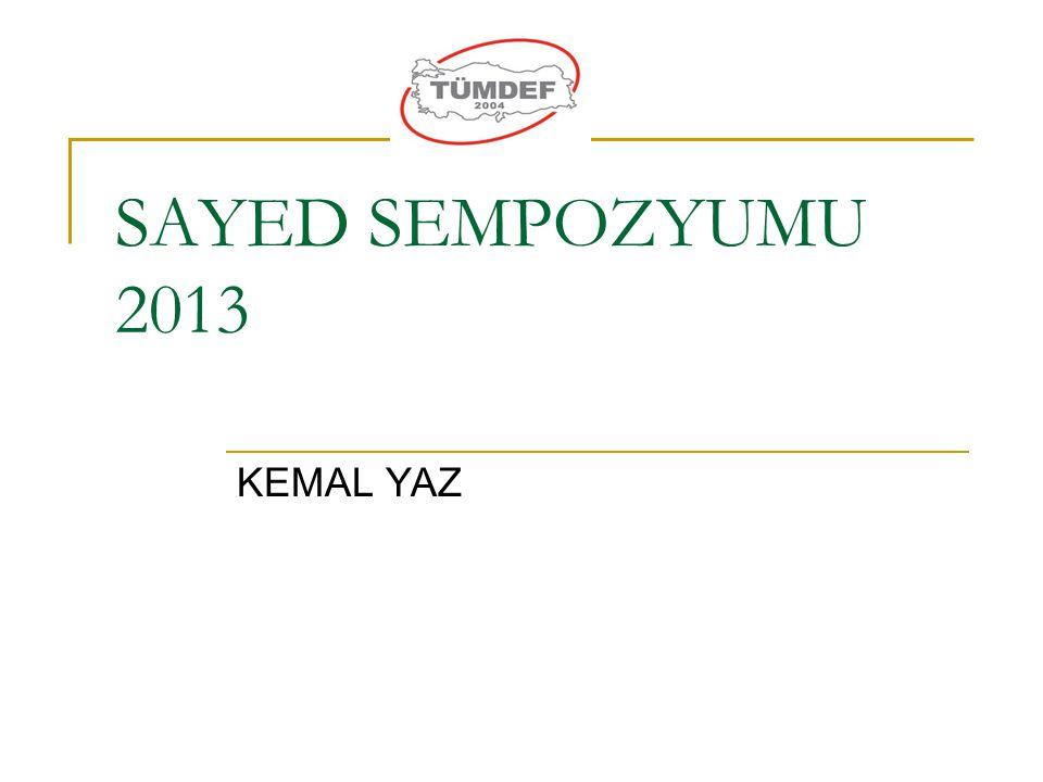 SAYED SEMPOZYUMU 2013 KEMAL YAZ