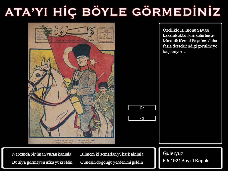 Karikatürcüler Mustafa Kemal'in gücünün farkında değil… İstanbul Hükümeti temsilcileri ile yapılan Bilecik görüşmeleri için yapılmış bu karikatürde, M