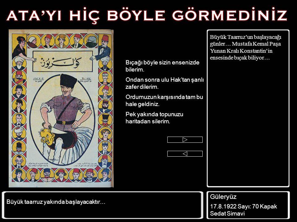 """Mustafa Kemal'i sonuna kadar eleştirmekten vazgeçmeyen karikatürcü Ahmet Rıfkı'nın bir çalışması. Ahmet Rıfkı, meşhur """"köylü milletin efendisidir"""" söz"""