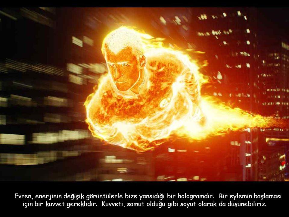 Evren, enerjinin değişik görüntülerle bize yansıdığı bir hologramdır.