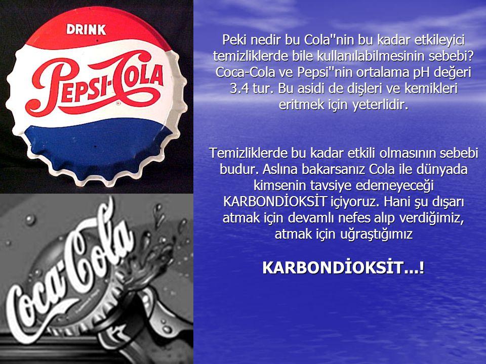 PASLANMIŞ BİR CiVATAYI SÖKMEK İÇİN : Coca-Colaya batırılmış bir bezi bir kaç dakika paslı cıvataya uygulayınız. Bir kaç dakika sonra rahatlıkla dönece