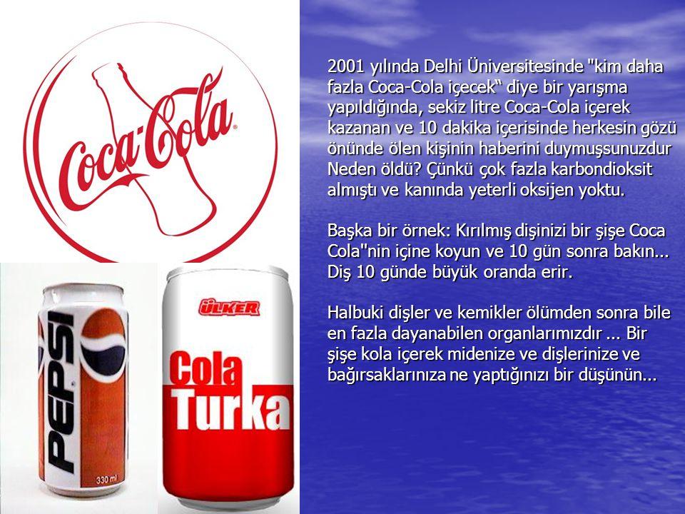 Peki nedir bu Cola''nin bu kadar etkileyici temizliklerde bile kullanılabilmesinin sebebi? Coca-Cola ve Pepsi''nin ortalama pH değeri 3.4 tur. Bu asid