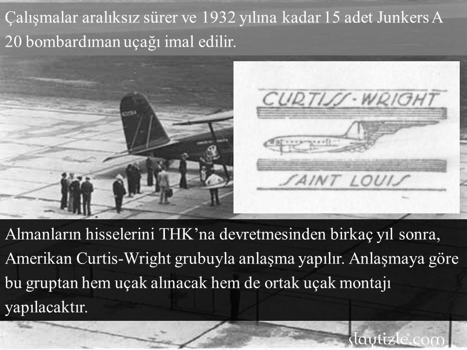 Çalışmalar aralıksız sürer ve 1932 yılına kadar 15 adet Junkers A 20 bombardıman uçağı imal edilir.