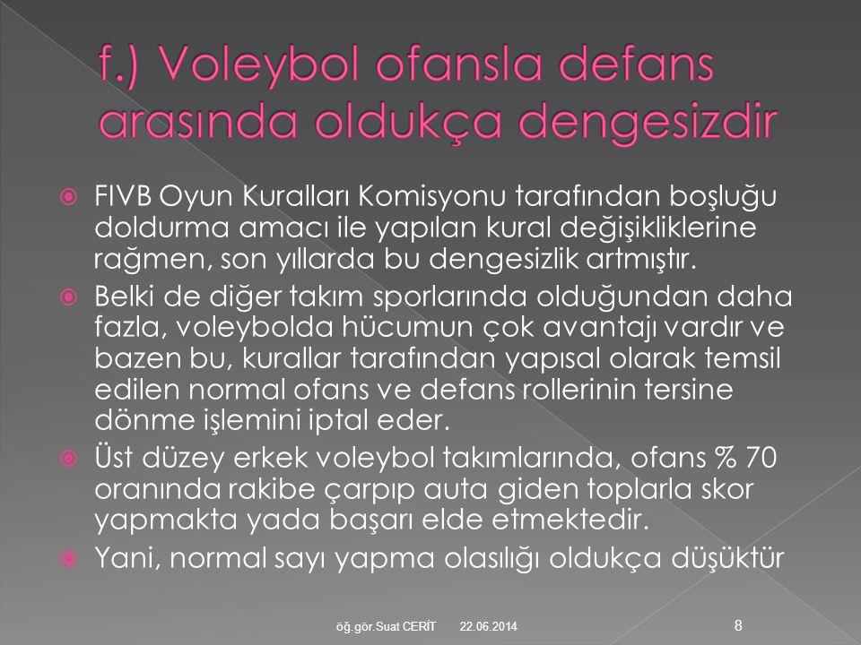  FIVB Oyun Kuralları Komisyonu tarafından boşluğu doldurma amacı ile yapılan kural değişikliklerine rağmen, son yıllarda bu dengesizlik artmıştır. 