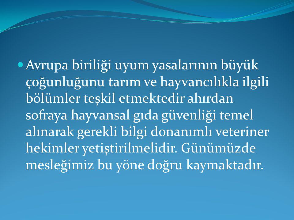  Artık Türkiye hayvancılığı aile işletmesinden ziyade en az elli baş ve üzeri çiftlik hayvancılığının yönelmiştir.