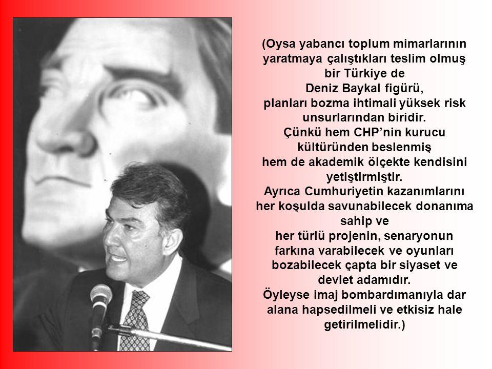 Bu projenin ana fikri Türk toplumunu bölerek vatandaşlarını birbirlerine düşman ederek güçsüzleştirmek ve bağımsızlığını elinden alarak onları köleleştirerek yönetmek ve dünyanın en büyük ekonomilerinden biri olan, bu toprakların ürettiği ekonomik değerleri sömürmektir.