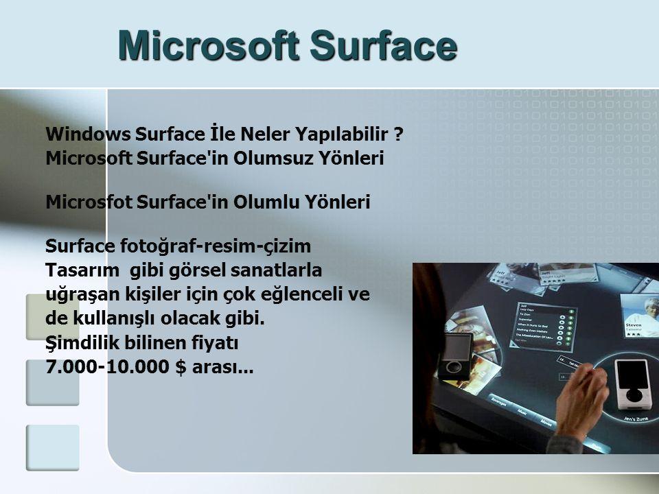 Microsoft Surface Windows Surface İle Neler Yapılabilir .