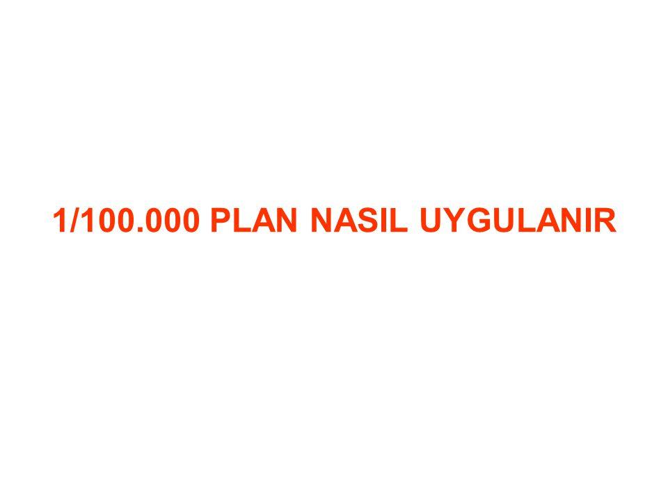1/100.000 PLAN NASIL UYGULANIR