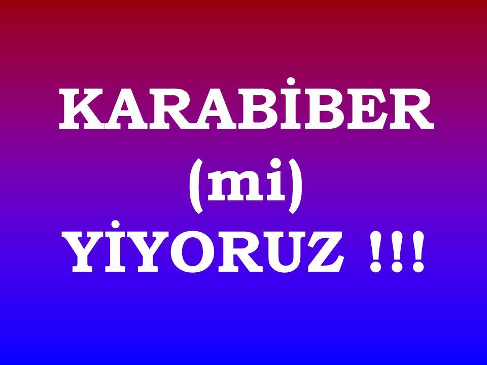 KARABİBER (mi) YİYORUZ !!!