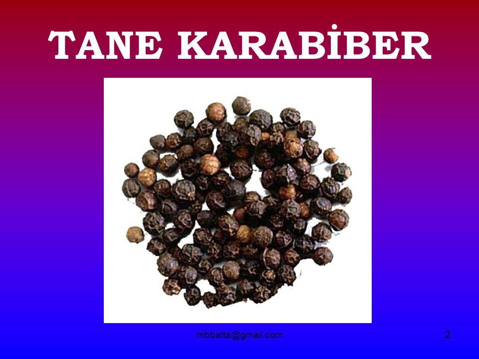mbbalta@gmail.com3 Karabiber: Bazılarımız hatta çoğumuz için yemeklerimizin vazgeçilmez acı tadı...