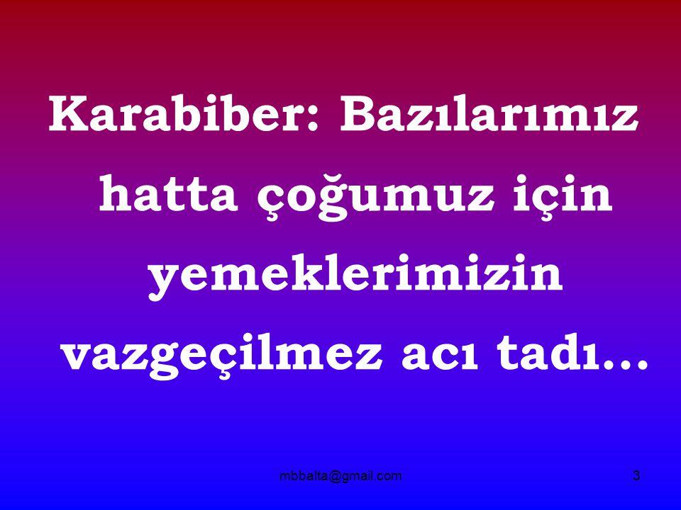 mbbalta@gmail.com34 1) Karabiber gri renk tonlarında olmalı 2) Öğütülmüş karabiber, tane karabiberden pahalı olmalı.