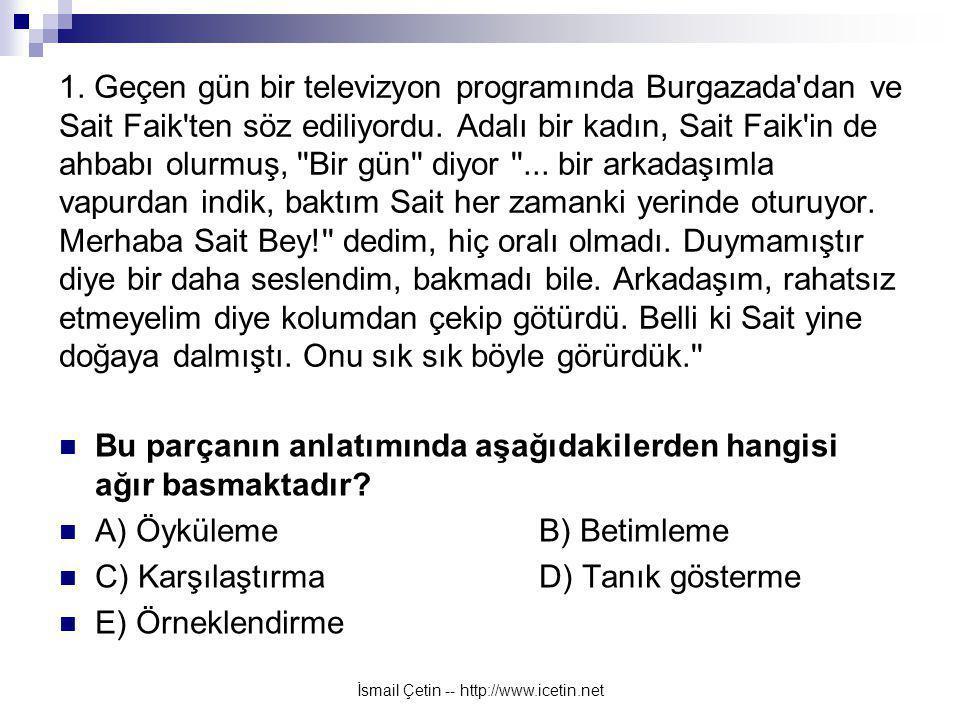 İsmail Çetin -- http://www.icetin.net 1.