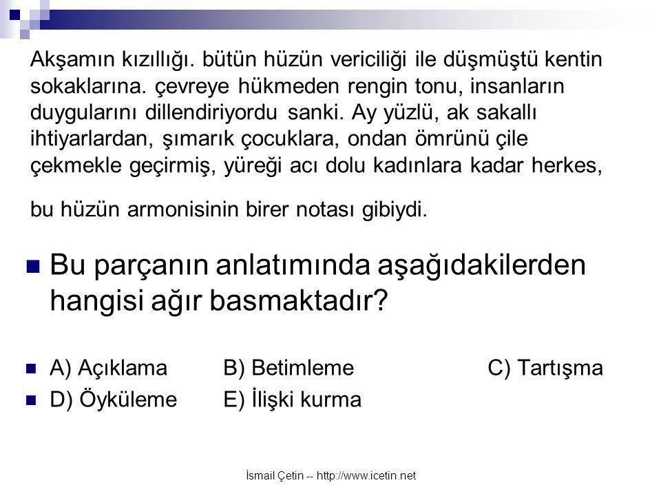 İsmail Çetin -- http://www.icetin.net Akşamın kızıllığı.