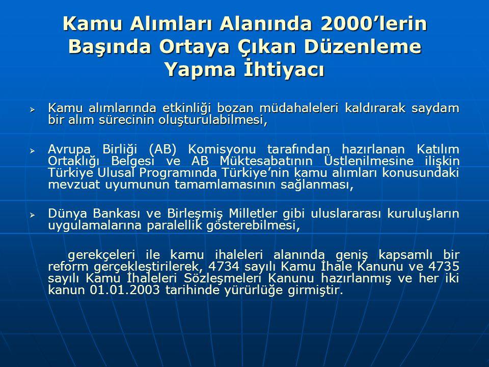 AB İLE KAMU ALIMLARI FASLI SÜRECİ Kriter 1: Türkiye, müktesebata uyum sürecini ve bu fasılda yapılacak müzakereleri kolaylaştırmak üzere, katılım öncesi dönemde, kamu alımlarına ilişkin her alanda tutarlı bir politika izlemesini temin edecek ve uygulamayı yönlendirecek diğer bir deyişle kamu alımları politikalarını yeknesak (coherent) uygulanmasını temin etmek üzere bir kurumun/organizasyonun görevlendirilmesi hususunu teminat altına almalıdır.