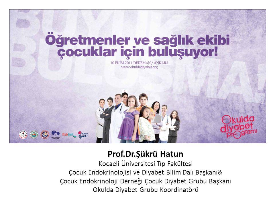 Prof.Dr.Şükrü Hatun Kocaeli Üniversitesi Tıp Fakültesi Çocuk Endokrinolojisi ve Diyabet Bilim Dalı Başkanı& Çocuk Endokrinoloji Derneği Çocuk Diyabet