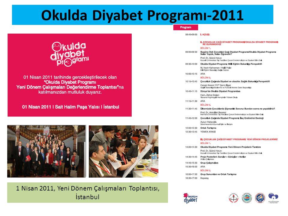 Okulda Diyabet Programı-2011 1 Nisan 2011, Yeni Dönem Çalışmaları Toplantısı, İstanbul