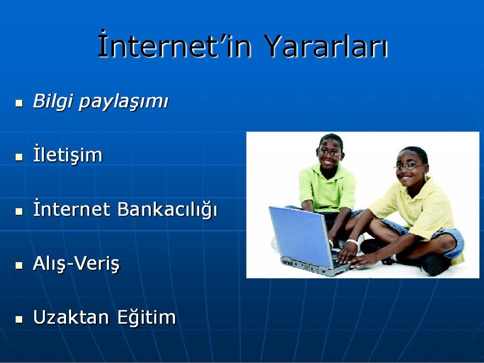 Soruların yanıtlarıyla ortaya çıkan puan sonucunda;4-10puan, Ortalama bir internet kullanıcısısınız.