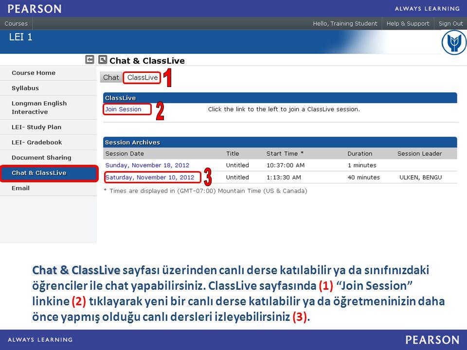 Chat & ClassLive Chat & ClassLive sayfası üzerinden canlı derse katılabilir ya da sınıfınızdaki öğrenciler ile chat yapabilirsiniz.