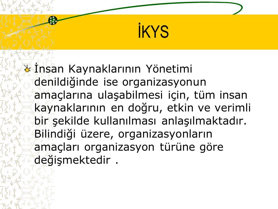 İKYS Kamu, özel ve üçüncü sektör organizasyonların amaçları arasında farklılıklar bulunmaktadır.