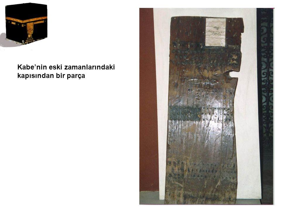Kabe'nin eski zamanlarındaki kapısından bir parça