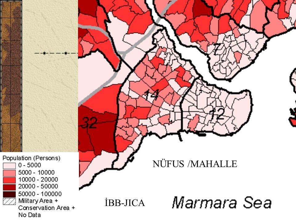 H. Eyidoğan, Tarihi Yarımada ve Deprem (İTÜ)21 NÜFUS /MAHALLE İBB-JICA