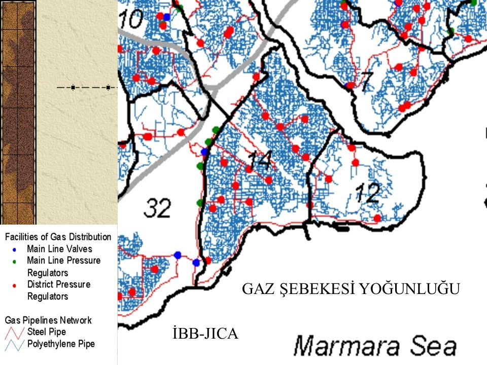 H. Eyidoğan, Tarihi Yarımada ve Deprem (İTÜ)22 GAZ ŞEBEKESİ YOĞUNLUĞU İBB-JICA