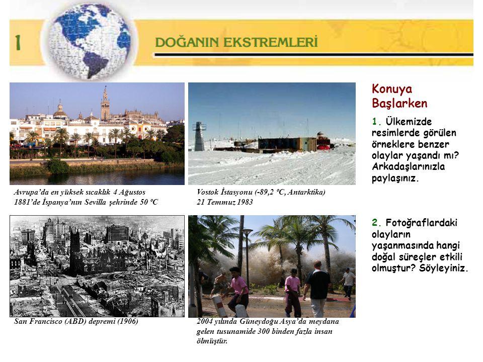 Konuya Başlarken 1. Ülkemizde resimlerde görülen örneklere benzer olaylar yaşandı mı? Arkadaşlarınızla paylaşınız. 2. Fotoğraflardaki olayların yaşanm