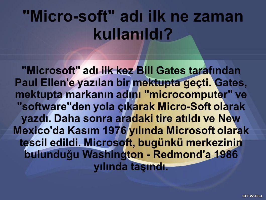 Micro-soft adı ilk ne zaman kullanıldı.