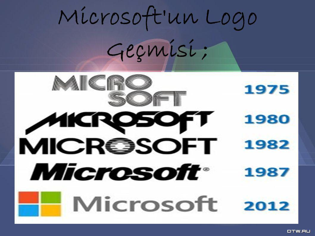 Microsoft'un Logo Geçmisi ;