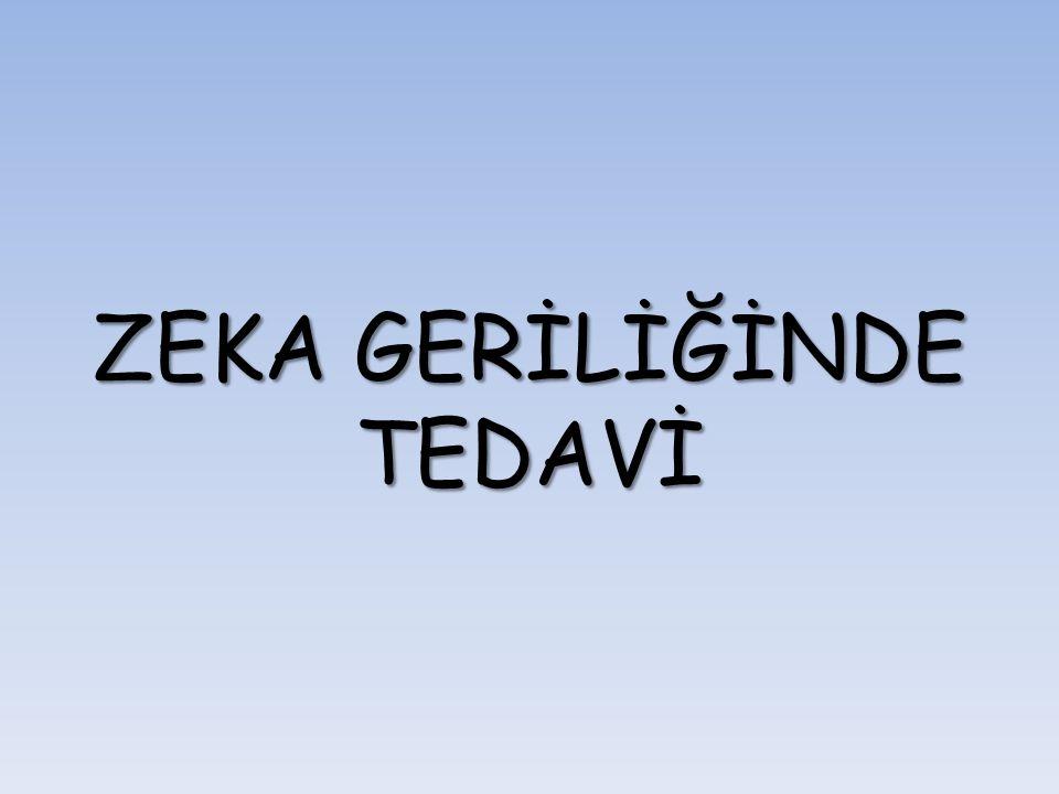 ZEKA GERİLİĞİNDE TEDAVİ