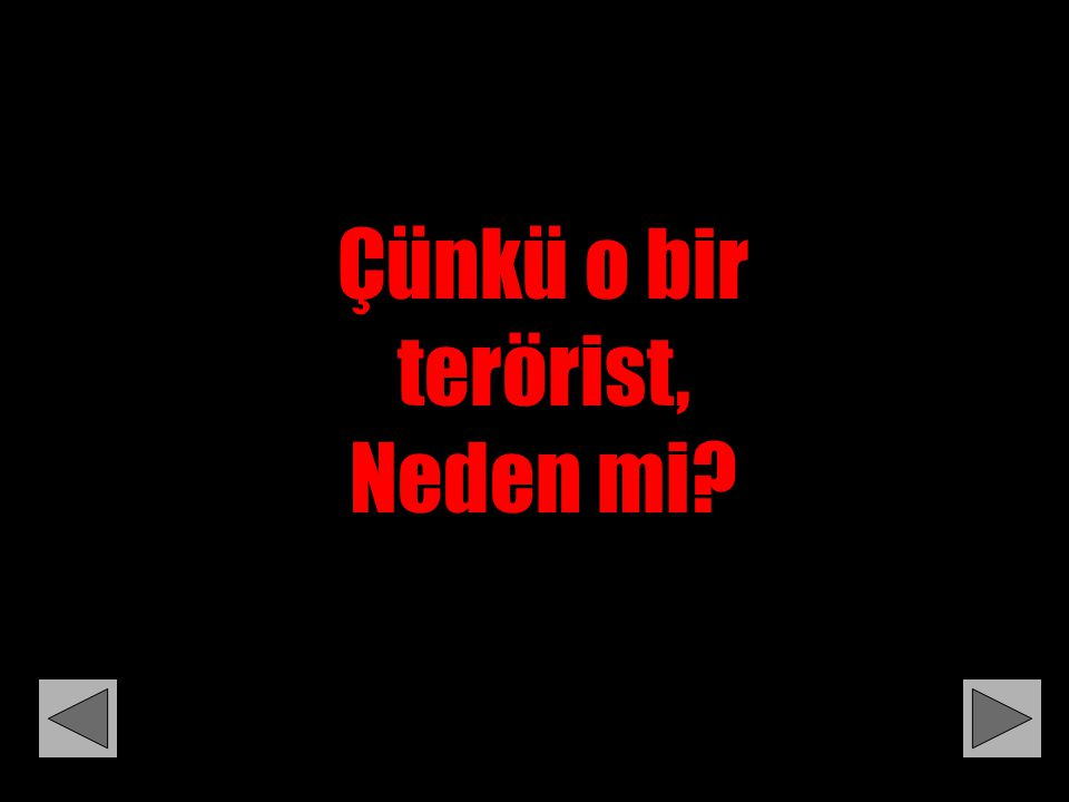 Çünkü o bir terörist, Neden mi?