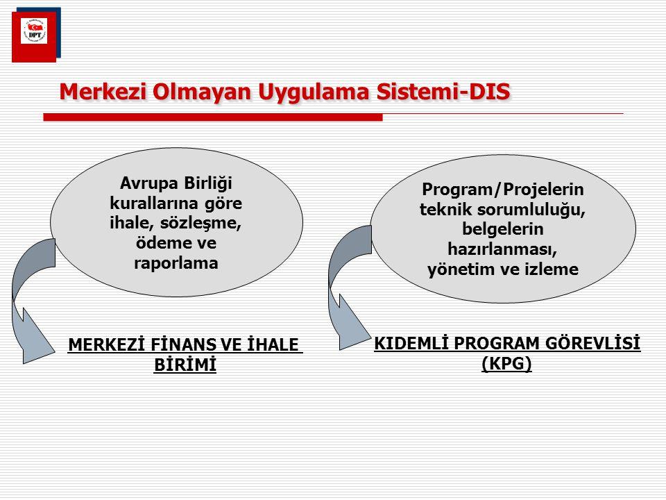 Merkezi Olmayan Uygulama Sistemi-DIS Avrupa Birliği kurallarına göre ihale, sözleşme, ödeme ve raporlama Program/Projelerin teknik sorumluluğu, belgel