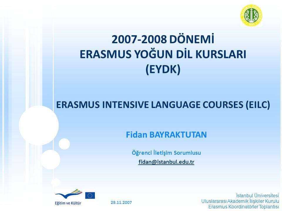 29.11.2007 SUNUM PLANI  EYDK Nedir. EYDK Hangi Dillerde Düzenlenir.