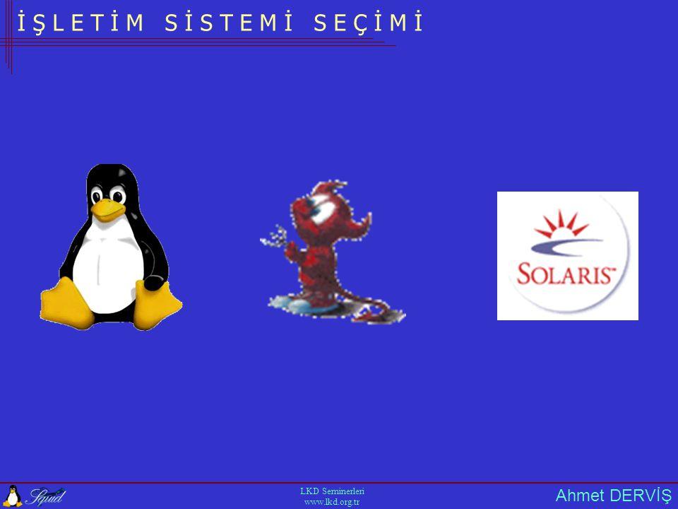 Ahmet DERVİŞ LKD Seminerleri www.lkd.org.tr İ Ş L E T İ M S İ S T E M İ S E Ç İ M İ