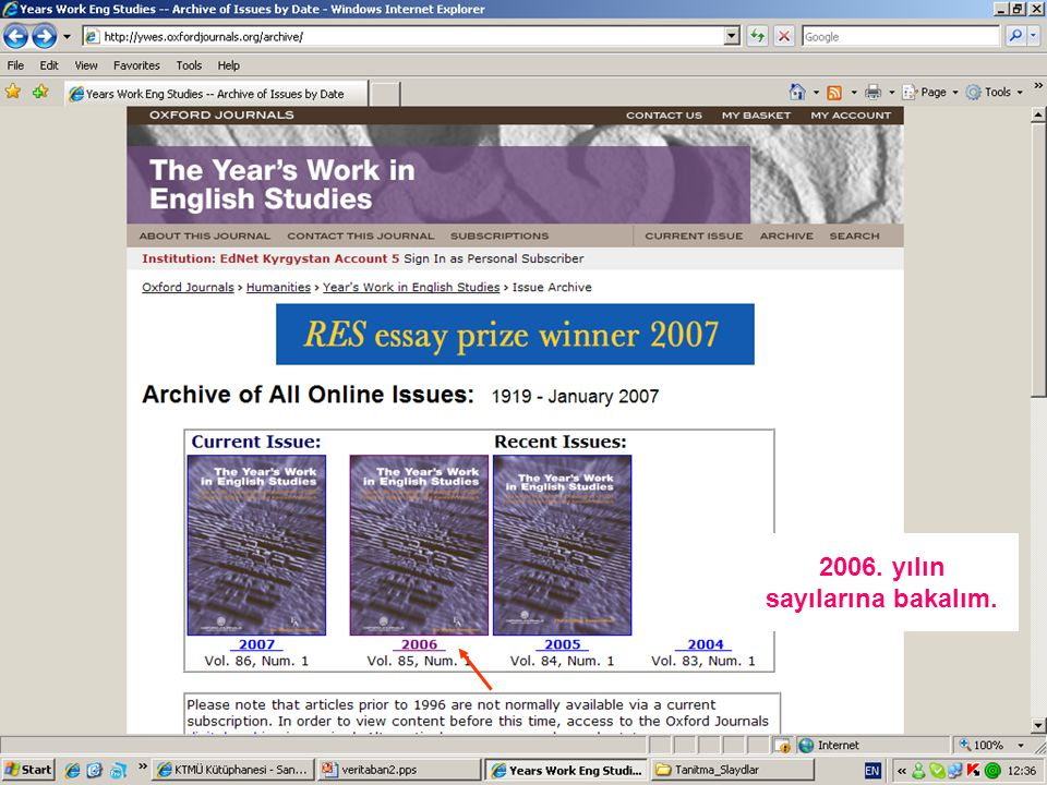 2006. yılın sayılarına bakalım.