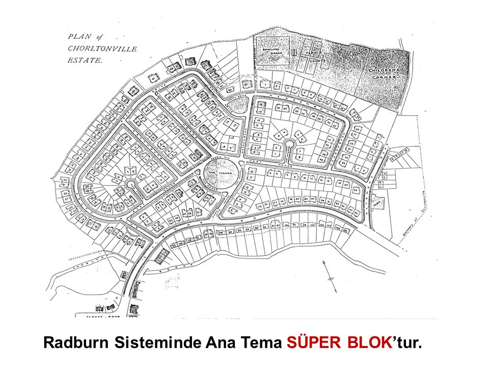 Radburn Sisteminde Ana Tema SÜPER BLOK'tur.
